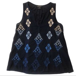 5/$25 🌻 | Lucky Brand Embroidered Sleeveless Top